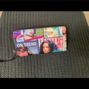 Vintage feminist wallet clutch